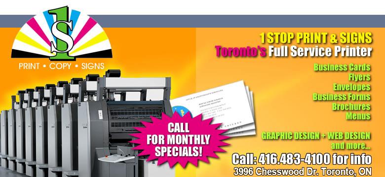 1 Stop Flyer Printing Toronto, Marketing, Business Cards